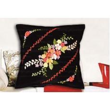Набор для вышивки подушки лентами EE-PL0008