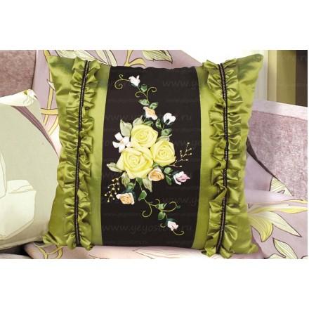 Набор для вышивки подушки лентами EE-PL0009